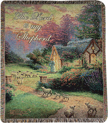 Good Shepherd's Cottage Tapestry Throw