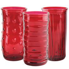 "8 1/2"" Rose Vase Asst-Ruby"