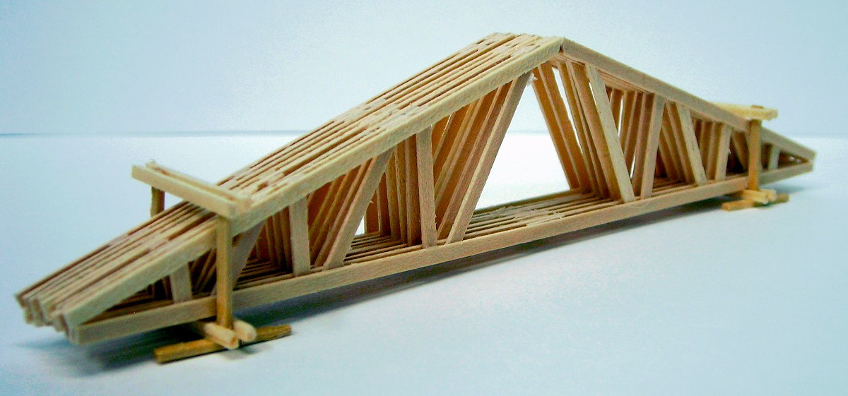 Duha 11250 large wooden roof truss load ho jwd for Wood roof trusses prices