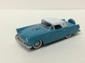 Oxford Diecast #56002 Ford '56 Thunderbird - Peacock Blue/White (HO)