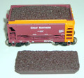 JWD EasyFit #1832 Taconite Loads for Walthers 24' Minnesota Style Ore Cars (HO)