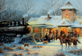 C73666 Train Station Christmas Card - Boxed Set