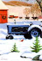 C73691 Farm Tractor Christmas Cards - Boxed Set