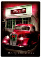 Vintage Pickup at Toy Store Christmas Card (1 pk)