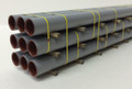 JWD #61504 General Purpose 50' Gray Pipe Load (HO)
