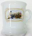 Avon Milk Glass Shaving Mug w/ Train
