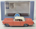 Oxford Diecast #87LC56004 Lincoln Continental '56 Mark II - Island Coral/White (HO)