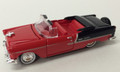 Classic Metal Works #30106D Vintage '55 Chevy BelAir Convertible - Red/Black (HO)