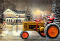Leanin' Tree #C73939 Santa Delivering a New Tractor Christmas Cards (10-pk)