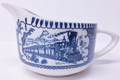 Royal China Currier & Ives Steam Train Creamer - Blue & White