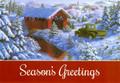 Leanin' Tree #C73937D Vintage Pickup Crossing Covered Bridge Christmas Cards (10-pk)