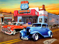 Leanin' Tree #BDG17606 Route 66  Movie Theatre Birthday Card - Single