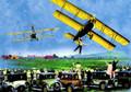 Tree Free Greetings #10180 Blank Note Card - Bi-Planes & Antique Cars