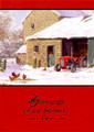 PMG #2025 Stone Barn w/ Red Tractor Christmas Card (Single)