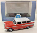 Oxford Diecast #87CN57002 Chevy '57 Nomad - Red/White (HO)