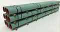 JWD #61600 General Purpose Green Pipe Load for 60' Bulkhead Flatcars (HO)