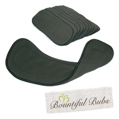 Charcoal Bamboo Boosters - 6 layers x 10 Extremely Absorbent, Bountiful Bubs
