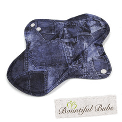 Washable Cloth Pad, Menstrual & Incontinence Pads, Small, Denim. Bountiful Bubs