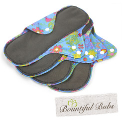 Reusable Cloth Pad, Large, Summer Garden, Bountiful Bubs