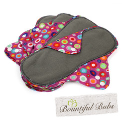 Reusable Cloth Pads, 4 Pack, Large, Dotty, Bountiful Bubs