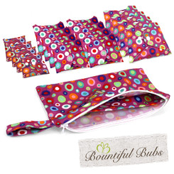 Reusable Pads, Deluxe Pack, Menstrual, Maternity, Incontinence Pads, Dotty, Bountiful Bubs