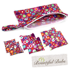 Bountiful Pads, Essentials Pack, Reusable Pads, Dotty