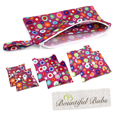 Washable, Reusable Bamboo Cloth Pads Essentials Pack, Dotty ...