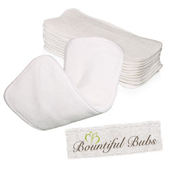 Bamboo Nappy Inserts, Boosters, x 10 Bamboo, 4 layers, 2 Bmb 2 Mf Bountiful Bubs