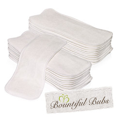 Nappy Inserts, Boosters, Bamboo x 20. 4 Layers - 1 Bm 3 Mf Bountiful Bubs