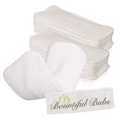 Bamboo Nappy Inserts, Boosters, x 20. 4 layers, 2 Bmb 2 Mf, Bountiful Bubs