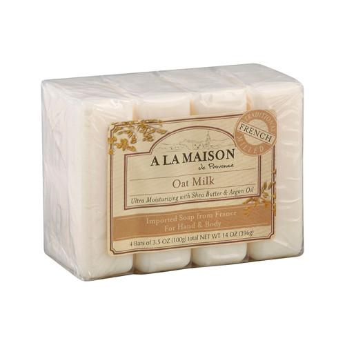 A La Maison Bar Soap Oat Milk Value (4 Pack)
