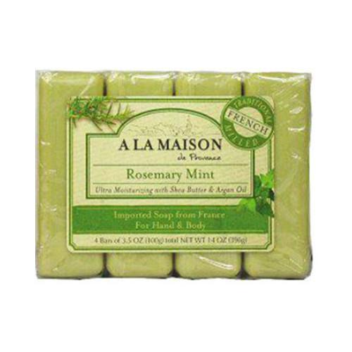 A La Maison Bar Soap Rosemary Mint Value (4 Pack)
