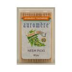 Auromere Ayurvedic Neem Picks 100 Toothpicks (12 Pack)