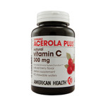 American Health Acerola Plus Natural Vitamin C Berry 300 mg (1x90 Chewable Wafers)