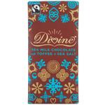 Divine Chocolate Milk Chocolate Toffee and Sea Salt (10x3.5 OZ)
