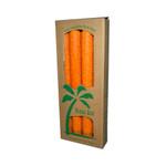 Aloha Bay Palm Tapers Orange (4 Candles)