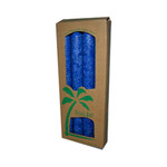 Aloha Bay Palm Tapers Royal Blue (4 Candles)
