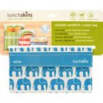 Lunchskins Bag Snack Aqua Elephant 1 Count