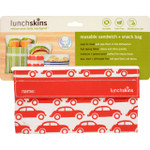 Lunchskins Bag Snack Red Car 1 Count