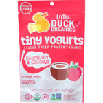 Little Duck Organics Freeze Dried Fruit and Yogurt Tiny Yogurts Organic Raspberry and Coconut Ages 1 Year Plus .75 oz case of 6