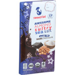 Sweetriot Organic Chocolate Bar riotBar 70 Percent Dark Chocolate Awesome Almond Sultry Sea Salt 3 oz Bars Case of 12