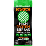 Kratos Beef Bar High Protein Ginger and Wasabi 1.2 oz Case of 12
