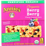 Annies Homegrown Granola Bar Organic Berry Berry 5.9 oz case of 12