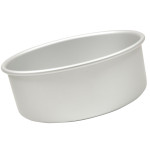 "Fat Daddio's Round cake pan solid bottom 5""x4"""