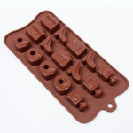 "Fat Daddio's Silicone Chocolate Mold, 9.13"" x 4.18"", Ladies Night, approx 1.25"" x .6"", 4 designs, 15 pcs per mold"