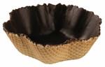 "Jean Ducourtieux Tulip, 4"" Chocolate Coated Waffle Shell (128 EA)"