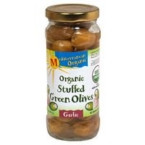 Mediterranean Organics Green Stuffed Garlic Olives (12x8.5 Oz)