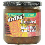 Arriba! Fire Roasted Southwestern Black Bean & Corn Salsa (6x16Oz)