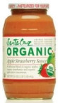 Santa Cruz Organic Strawberry Applesauce (12x23 Oz)