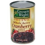 Grown Right Whole Cranberry Sauce (24x14 Oz)